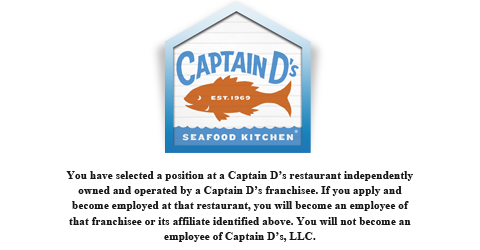 captain d's jobs