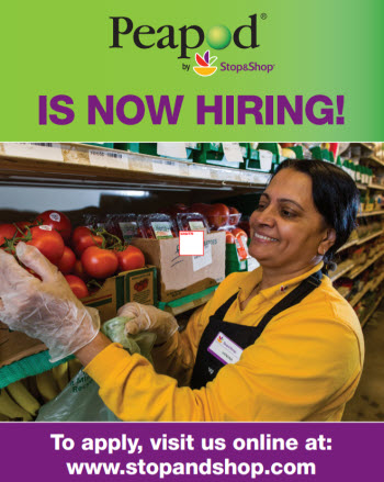 stop and shop supermarket/peapod jobs