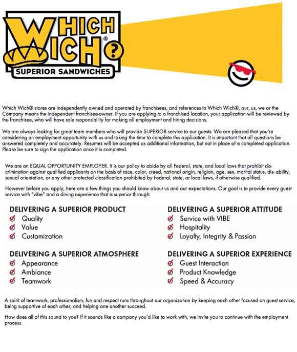 Which Wich Superior Sandwiches Sandwich Maker Immediate Opening ...
