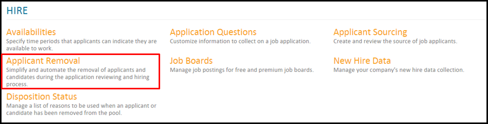 Applicant Removal: How do I set up auto-removal settings for